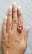 Coral Galaxy Ring