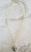 Pyrite chain necklace