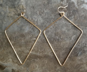 Diamond-shaped Earrings: Lrg