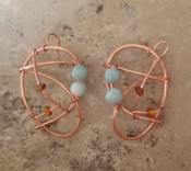 Amazonite & Amber Galaxy Earrings