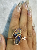 Rainbow Quartz Galaxy Ring Medium