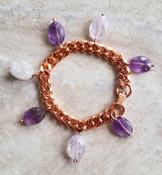 Amethyst Copper Chain Bracelet