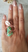 Coral & Howlite Ring