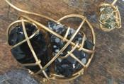 Obsidian & Pyrite Galaxy Necklace