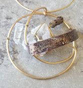 Rings of Saturn Necklace : Druzy