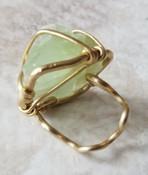 Green Calcite Bronze Ring