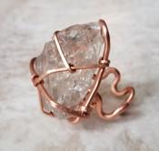 Copper Smokey Quartz Ring