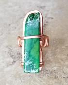 Green Jasper Ring