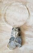 Silver Pyrite & Agate Choker