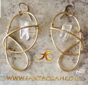 Crystal Quartz Galaxy Earrings