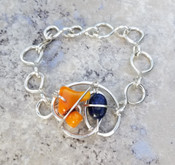 Coral & Lapis Galaxy Bracelet