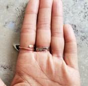 Ra Sun Disc 3 Finger Ring
