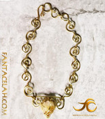 Crown Jewel Citrine Spiral Necklace