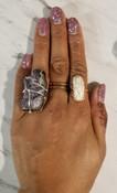 Howlite Oblong Ring