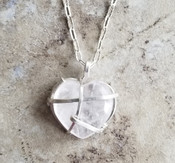 Crystal Heart Chain Necklace