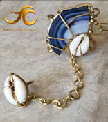 The Sankofa Goddess Bracelet: Blue