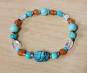 Crystal Scarab Beaded Bracelet