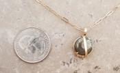 Circular Pyrite Necklace: sm