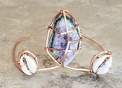 Amethyst & Cowrie Shell Crown