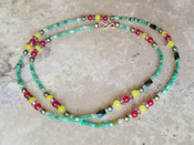 Green & Colorful Crystal Waist Beads