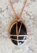 Oval Onyx Necklace : Lrg