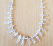 Mother of Pearl & Quartz Crystal Necklace