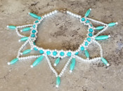 The Blue Quartz Lotus Choker