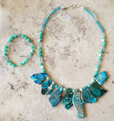 Blue Jasper Aura Necklace