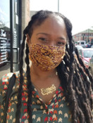 Brown Paisley Mask: Medical Style