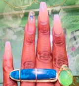 Blue Agate 2 Finger Ring