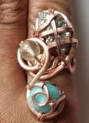 Amazonite, Citrine, & Pyrite Dream Ring