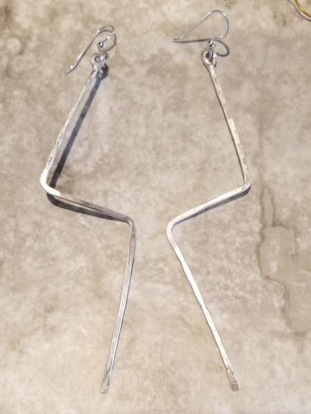 Silver Lightning Earrings
