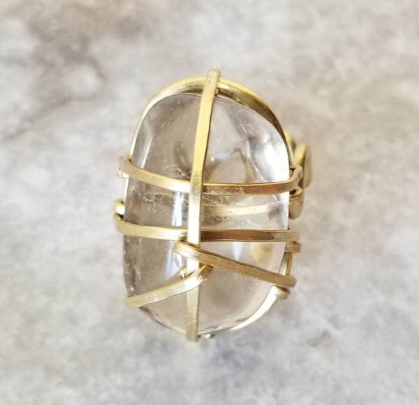Smokey Quartz Ring -polished