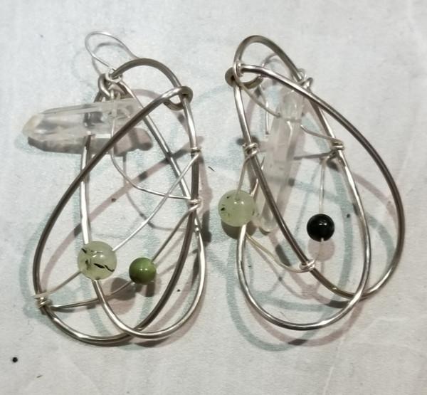 Green Galaxy Earrings