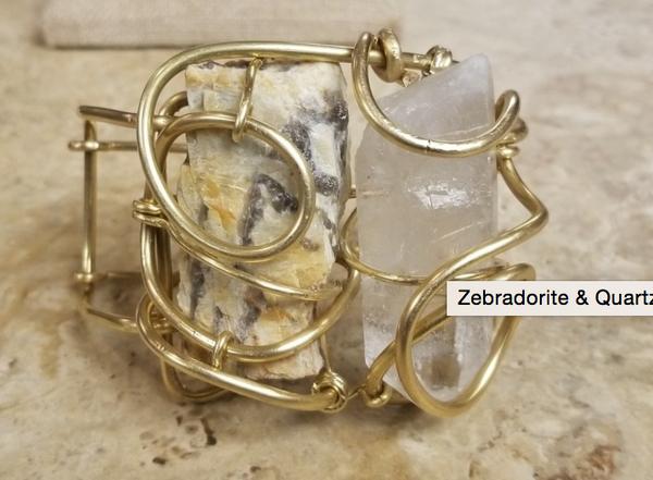 Zebradorite & Quartz Galaxy Cuff