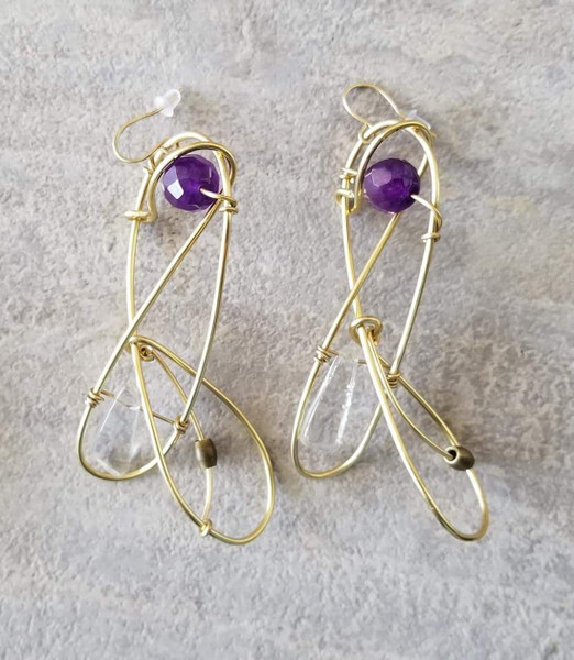 Amethyst Galaxy Earrings