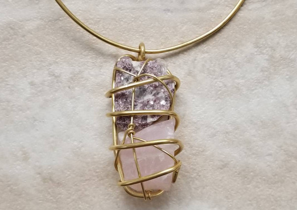 The Mystic Choker II: Rose Quartz & Lepidolite