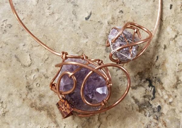 Amethyst & Lepidolite Galaxy Necklace