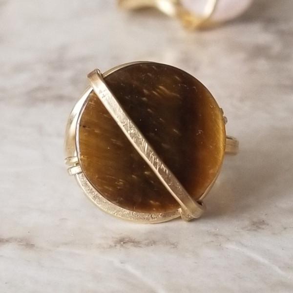 Tigers Eye Circular Ring