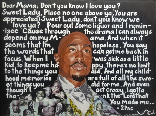 18 x 27 Tupac Shakur: Dear Mama