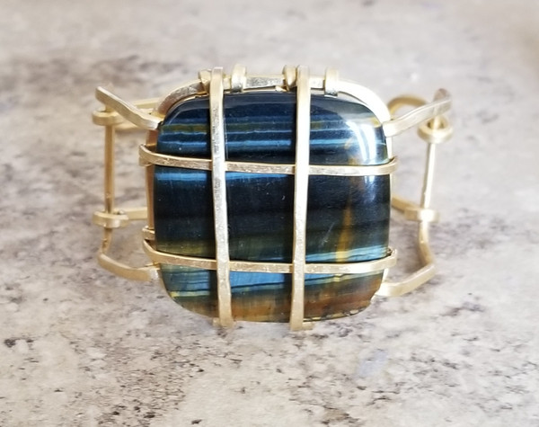 Blue Tiger's Eye Cuff