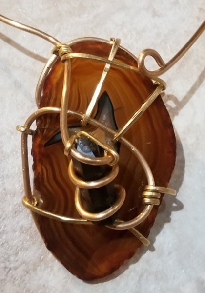 Bumble Bee Galaxy Necklace