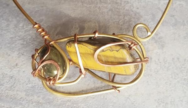 Golden Earth Galaxy Necklace
