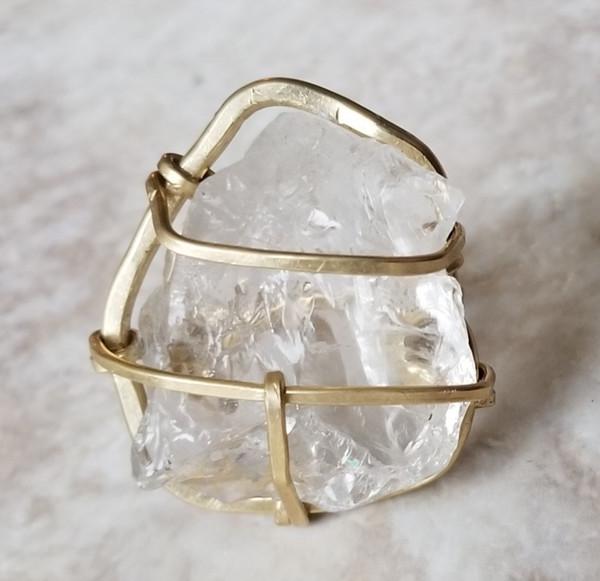 Raw Smokey Quartz Ring