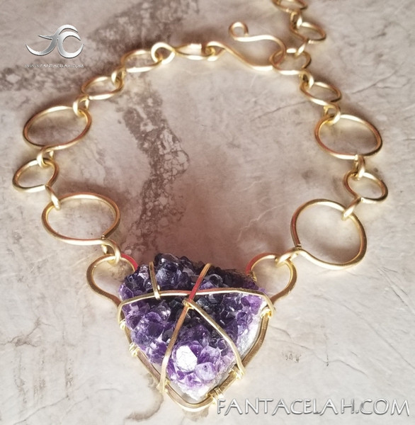 Amethyst Infinity Chain necklace