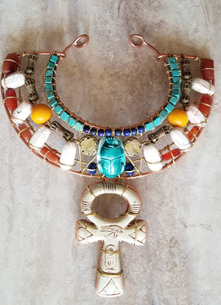 The Wings of Ma'at Kemetic Collar IV