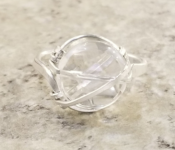 Crystal Quartz Ring: Fauceted