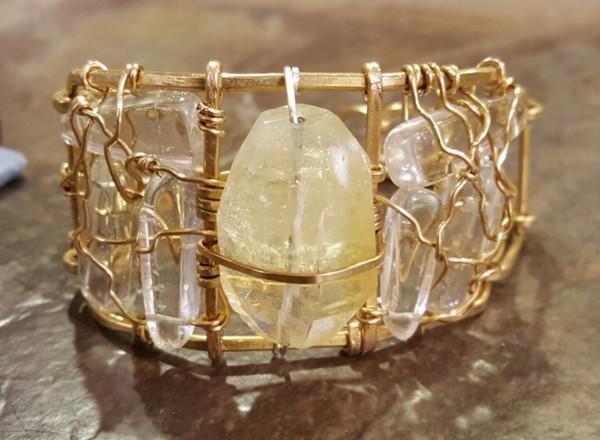 Citrine Crown Jewel Cuff