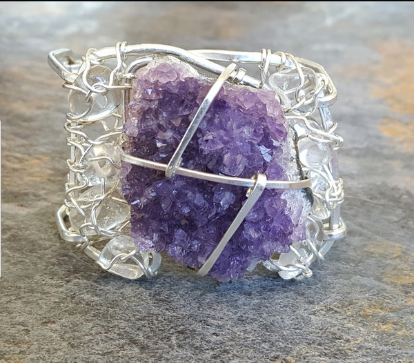 Amethyst Crown Jewel Cuff