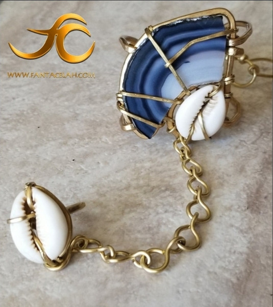 The Sankofa Goddess Bracelet: Blue